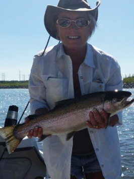 Sandy Windsor has been fishing for about 10 years.